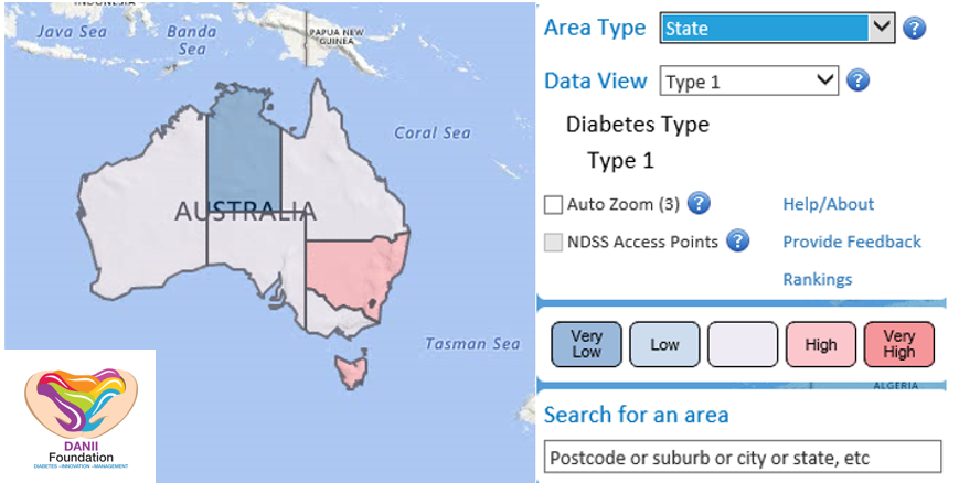 Interactive Map Of Australia.Diabetes In Australia Interactive Map Danii Foundation