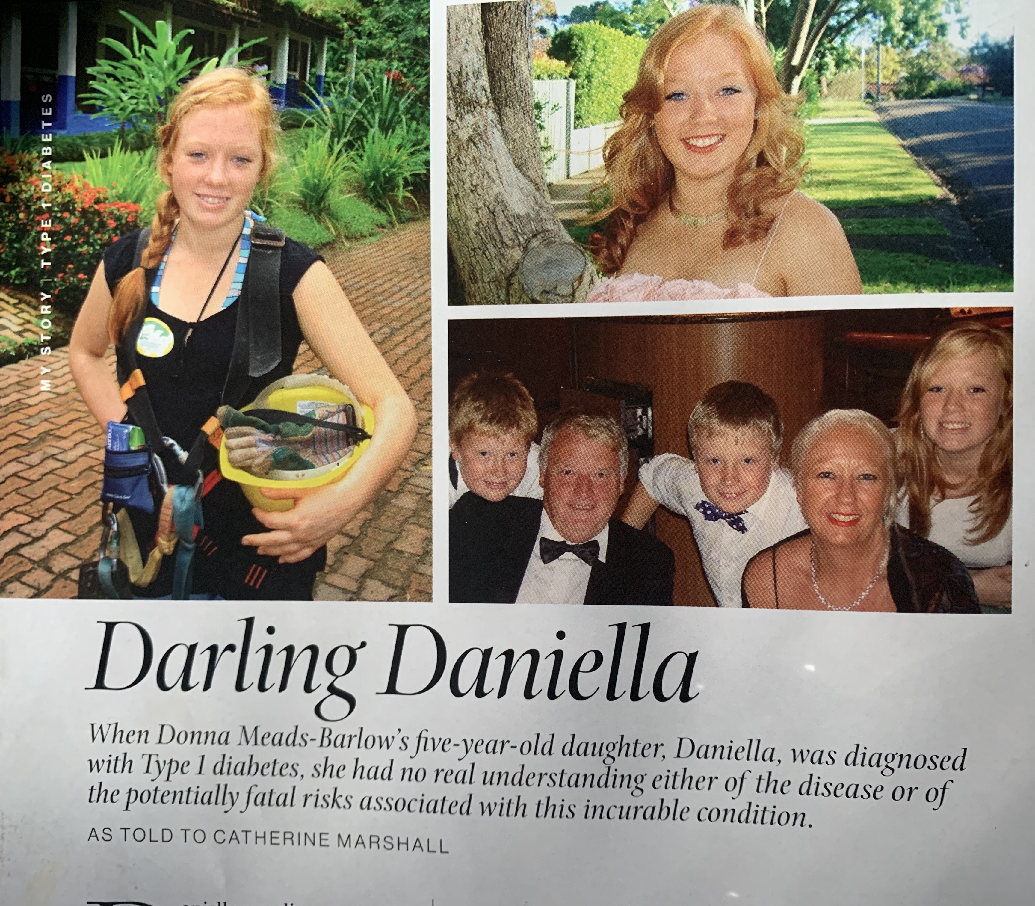 NOV19 My Story MindFood Darling Daniella-Type 1 Diabetes Awareness
